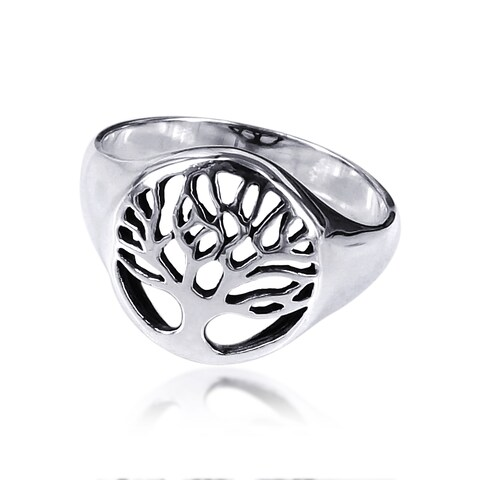 Handmade Sterling Silver Flourishing Tree of Life Ring (Thailand)