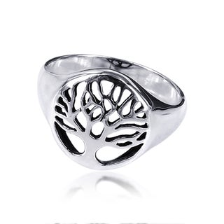Handmade Sterling Silver Flourishing Tree of Life Ring (Thailand)
