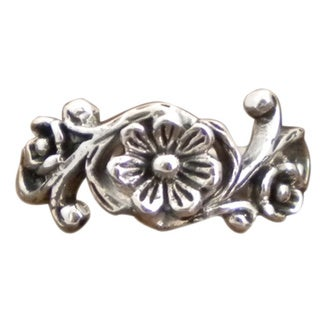 Sterling Silver Ethereal Romance Floral Ring (Thailand)