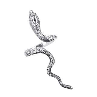 Handmade Silver Rare Cobra Snake Coil Wrap Around Ring (Thailand)