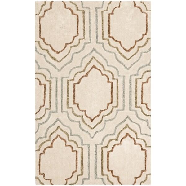 Safavieh Handmade Modern Art Moroccan Beige/ Multicolored Polyester Rug (3' x 5')