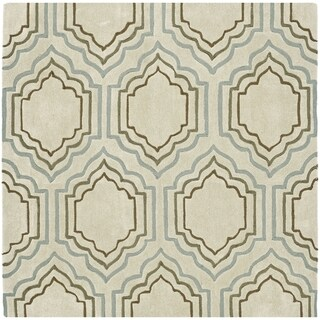 Safavieh Handmade Modern Art Moroccan Beige/ Multicolored Polyester Rug (5' Square)