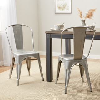 tabouret bistro steel dining chairs set of 2