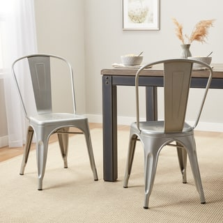I Love Living Bistro Steel Dining Chairs (Set of 2)