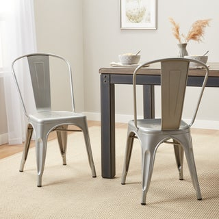 Carbon Loft Boyer Bistro Steel Dining Chairs (Set of 2)