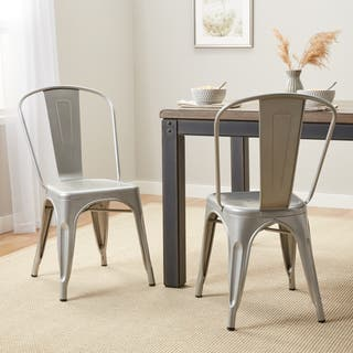 Carbon Loft Boyer Bistro Steel Dining Chairs Set Of 2