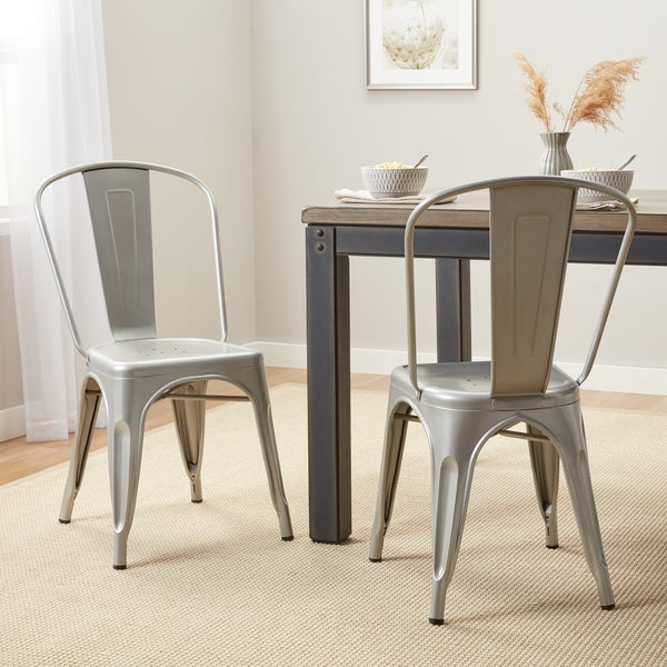 Ordinaire Tabouret Bistro Steel Dining Chairs (Set Of 2)
