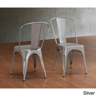 Carbon Loft Boyer Bistro Steel Dining Chairs (Set of 2) (4 options available)