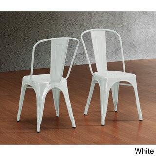 Carbon Loft Boyer Bistro Steel Dining Chairs (Set of 2) (Option: White)