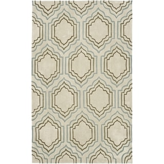 Safavieh Handmade Modern Art Moroccan Beige/ Multicolored Polyester Rug (9' x 12')