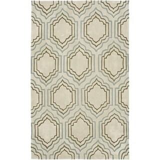 Safavieh Handmade Modern Art Moroccan Beige/ Multicolored Polyester Rug (9' x 12')