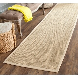 "Safavieh Casual Natural Fiber Sisal Natural / Beige Seagrass Area Rug - 2'6"" x 20'"