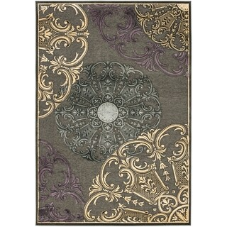 "Large Safavieh Paradise Charcoal Grey Viscose Rug (8' x 11' 2"")"
