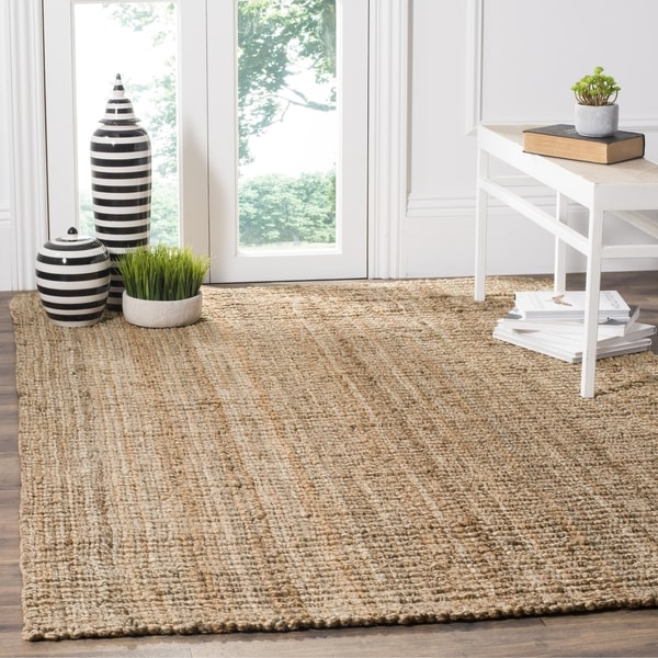 Safavieh Casual Natural Fiber Hand Woven Natural Accents Chunky Thick Jute  Rug (5u0027