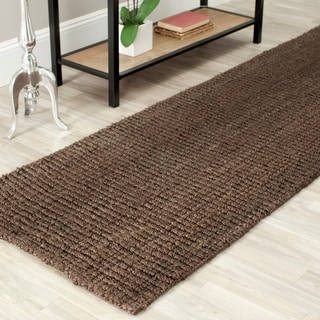 Safavieh Casual Natural Fiber Hand-Woven Brown Chunky Thick Jute Rug (2' 6 x 10')
