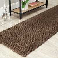 Safavieh Casual Natural Fiber Hand-Woven Brown Chunky Thick Jute Rug - 2' 6 x 10'