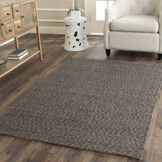Safavieh Casual Natural Fiber Hand-Woven Doubleweave Sea Grass Grey Rug (9' x 12')