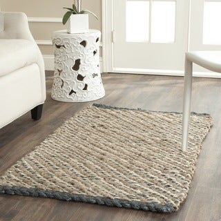Safavieh Casual Natural Fiber Chunky Sisal Natural/ Blue Rug (2' 6 x 4')