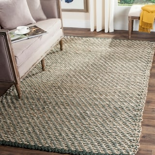 Safavieh Casual Natural Fiber Hand-Woven Blue/ Natural Jute Rug (4' x 6')