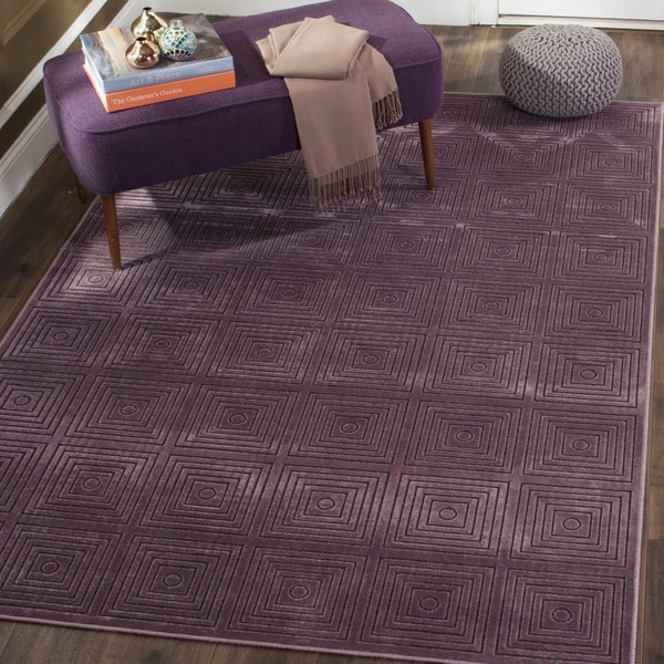 Safavieh Paradise Modern Purple/ Multicolored Viscose Rug (5' 3 x 7' 6)