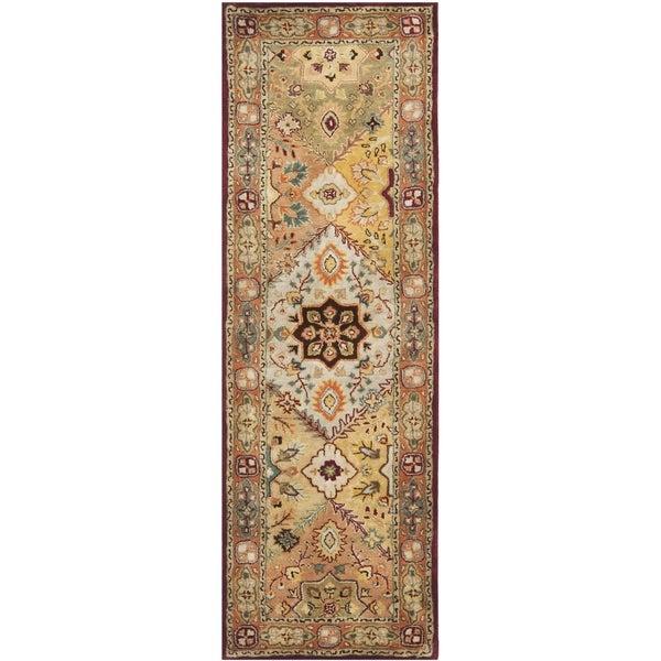 Safavieh Handmade Persian Legend Light Green Rust New: Shop Safavieh Handmade Mahal Green/ Beige New Zealand Wool
