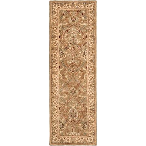 "Safavieh Handmade Mahal Beige New Zealand Wool Rug - 2'6"" x 20'"