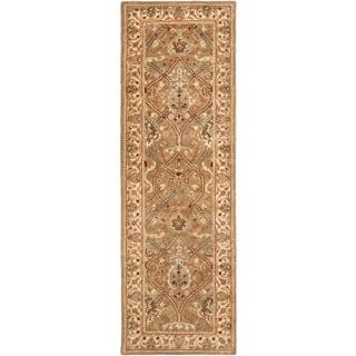 Safavieh Handmade Mahal Beige New Zealand Wool Rug (2'6 x 20')