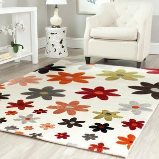 Safavieh Porcello Contemporary Daisies Ivory/ Multi Rug (6'7 x 9'6)