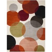 Safavieh Porcello Contemporary Bubbles Ivory/ Multi Rug - 6'7 x 9'6