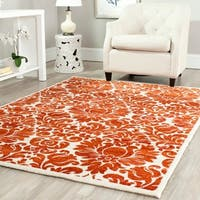 Safavieh Porcello Damask Red/ Ivory Rug - 6'7 x 9'6