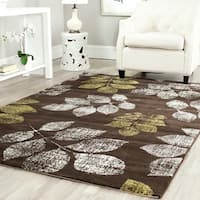 "Safavieh Porcello Leaf Print Distressed Ivory/ Gold Runner Rug - 2'4"" x 6'7"""