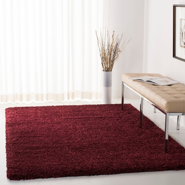 Safavieh California Cozy Plush Maroon Shag Rug - 8' x 10'