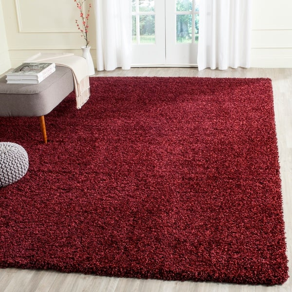 Safavieh California Cozy Plush Maroon Shag Rug - 8'6 x 12'