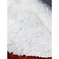 Safavieh Classic Ultra Handmade White Shag Rug - 8' x 8' Round