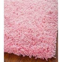 Safavieh Classic Ultra Handmade Pink Shag Rug - 9' x 9' square