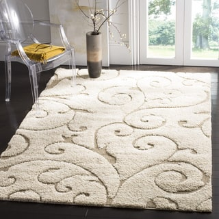 Safavieh Florida Shag Scrollwork Elegance Cream/ Beige Rug (2'3 x 4')|https://ak1.ostkcdn.com/images/products/7725688/P15127814.jpg?impolicy=medium