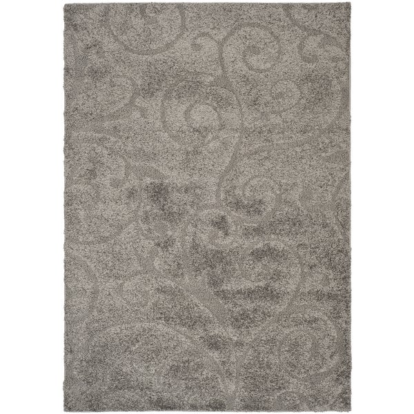Safavieh Florida Ultimate Shag Dark Grey/ Beige Rug (11' x 15')