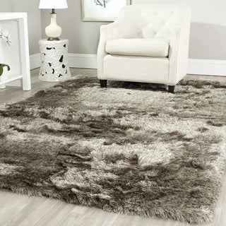 Safavieh Handmade Silken Glam Paris Shag Sable Brown Polyester Rug (10' x 14')