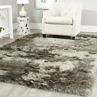 Safavieh Handmade Silken Glam Paris Shag Sable Brown Rug - 10' x 14'