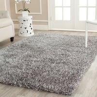 Safavieh Handmade New Orleans Shag Grey Textured Polyester Large Area Rug (10' x 14')