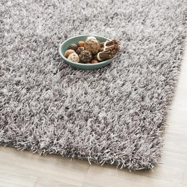 Safavieh Handmade New Orleans Shag Grey Textured Polyester Large Area Rug - 10' x 14'