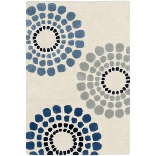 Safavieh Handmade Soho Celeste Ivory New Zealand Wool Rug (2'6 x 4')