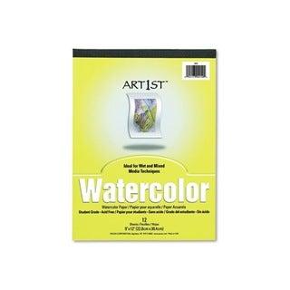 Artist Watercolor 9x12-inch White Paper Pad
