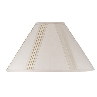 Cal Lighting Side Pleated Off-white Linen Shade