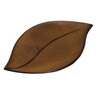 KINDWER Metal Palm Leaf Tray