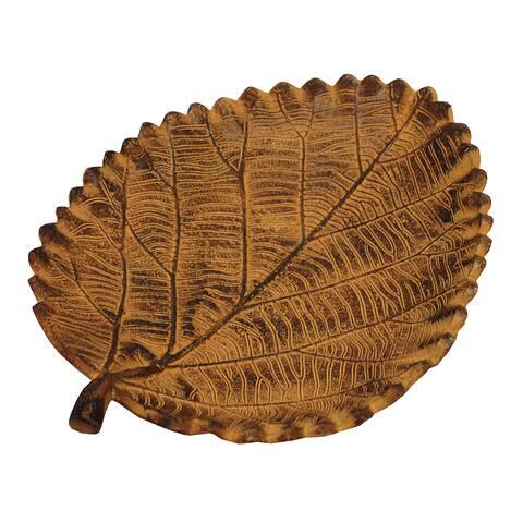 KINDWER Metal Oak Leaf Tray