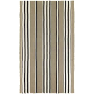 Hand-Woven Maine Stay Freeport Buttered Rum Cotton Rug (3' x 5')