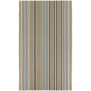 Hand-Woven Maine Stay Freeport Buttered Rum Cotton Rug (8' x 10')