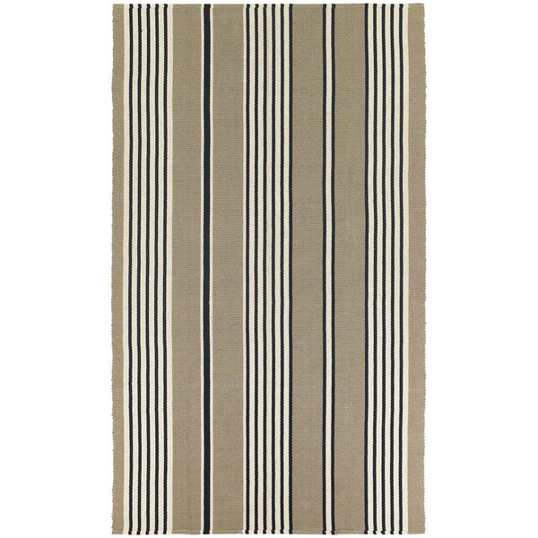 Hand Woven Maine Stay Freeport Buttered Rum Cotton Rug 8