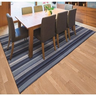Hand-Woven Maine Stay Freeport Blueberry Crush Cotton Rug (5' x 8')